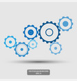 gears mechanical concept abstract background vector image
