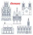 germany landmark buildings and cathedrals icons vector image vector image
