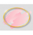 golden shiny vintage oval frame with brush vector image vector image