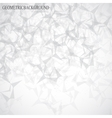 Grey graphic background molecule and communication vector image vector image
