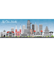 Ho Chi Minh Skyline with Gray Buildings vector image vector image