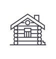 housecabinwood house line icon sign vector image vector image
