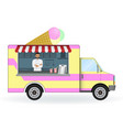 ice cream car isolated on a white background vector image vector image