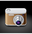 Icon for compact photo camera vector image vector image