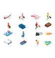 isometric tourism and booking app iconcs travel vector image vector image
