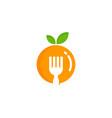 juicy food logo icon design vector image
