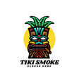 logo tiki smoke mascot cartoon style vector image