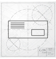 mail icon Epsclassic blueprint of0 vector image