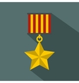 Medal star icon flat style vector image vector image