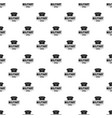 military hat pattern seamless vector image vector image
