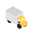 modern freight truck isometric icon vector image vector image