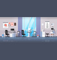 modern ophthalmologist office interior design vector image