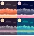 Night landscapes set vector image