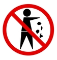 No littering vector image