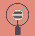 old microphone made in grunge style vector image vector image