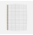 Opened notepad notebook sheet in a cage vector image