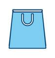 paper bag blue vector image