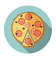 Pizza icon in flat style