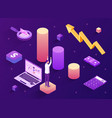 positive trend abstract isometric concept vector image