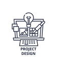 project design line icon concept project design vector image vector image