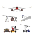 Repair and maintenance of aircraft vector image vector image