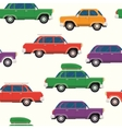 Retro cars seamless pattern vector image