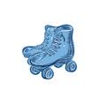 Roller Skates Vintage Etching vector image