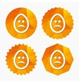 Sad egg face sign icon Sadness symbol vector image vector image