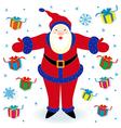 Santa Claus and many gifts vector image vector image
