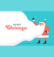 santa claus concept design for billboard banner vector image