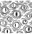 seamless texture many monsters eyes vector image