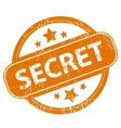 Secret grunge icon vector image