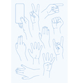 set Hands Icons vector image