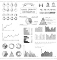 Set of doodles business infographic vector image vector image