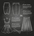 set of woman casual clothes vector image vector image