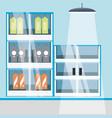 supermarket shelves icon vector image