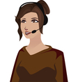 telephone woman vector image vector image