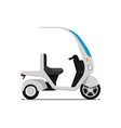 trendy electric bike isolated on white icon vector image vector image