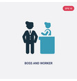two color boss and worker icon from people vector image vector image