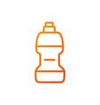 water bottle sport gym fitness gradient line vector image