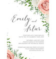 wedding invitation floral invite card design vector image vector image