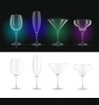 wine champagne martini vector image vector image