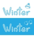 Winter bacgrounds with cap and mittens vector image vector image