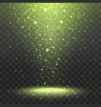 yellow spotlights on transparent background vector image