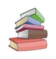 Books set isolated on white background vector image