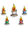 colored candles vector image
