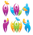 set of people family parents and babies vector image