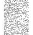 abstract black and white pattern for coloring book vector image vector image