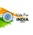 abstract indian election banner design vector image vector image