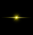 Abstract yellow beam Light vector image vector image